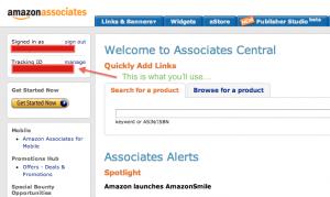 Locating Your Amazon Associates Tracking ID