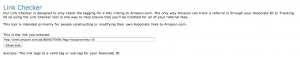 Verifying Your Amazon Affiliate Link