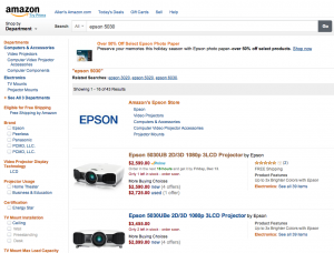 Amazon Search Results Page