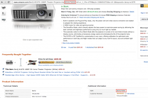 Locate the ASIN on an Amazon Product Page